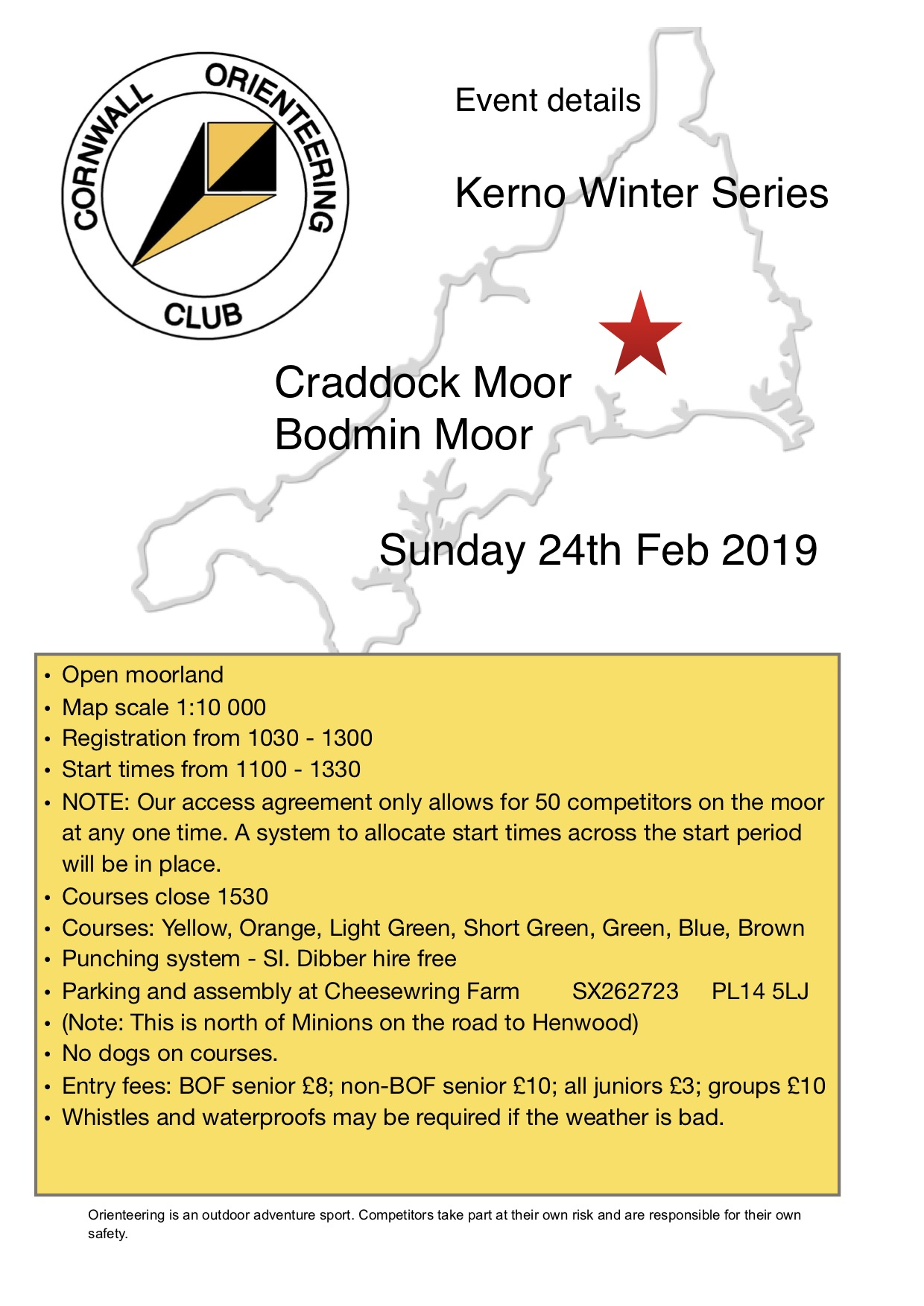 flyer for craddock moor event