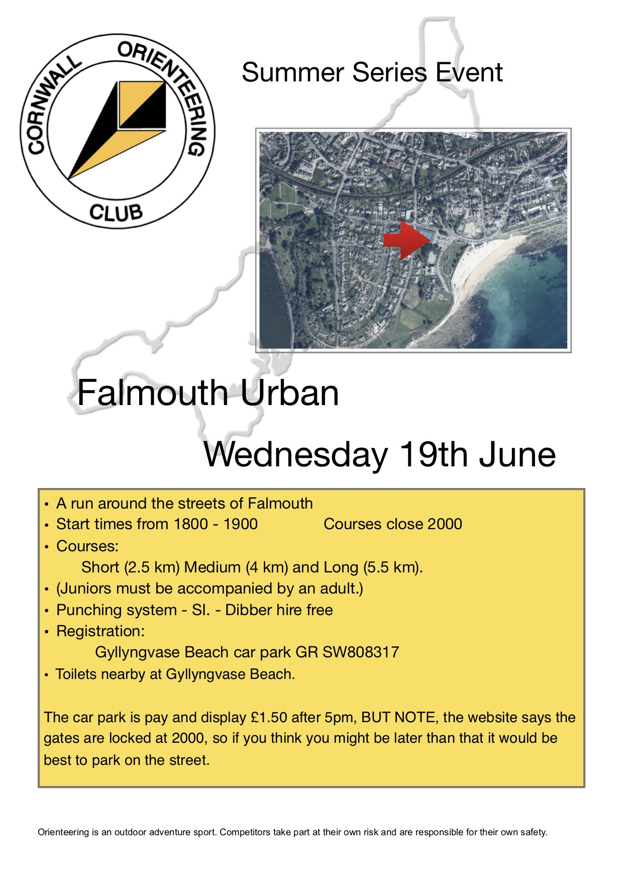 Flyer for falmouth event
