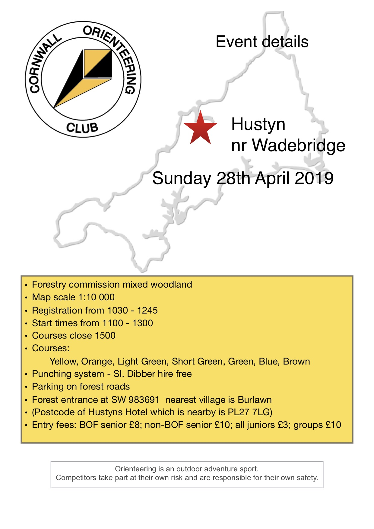 Flyer for Hustyn event 2019