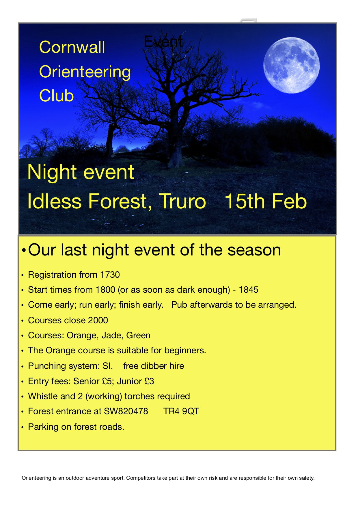 Flyer for Idless night event 2020
