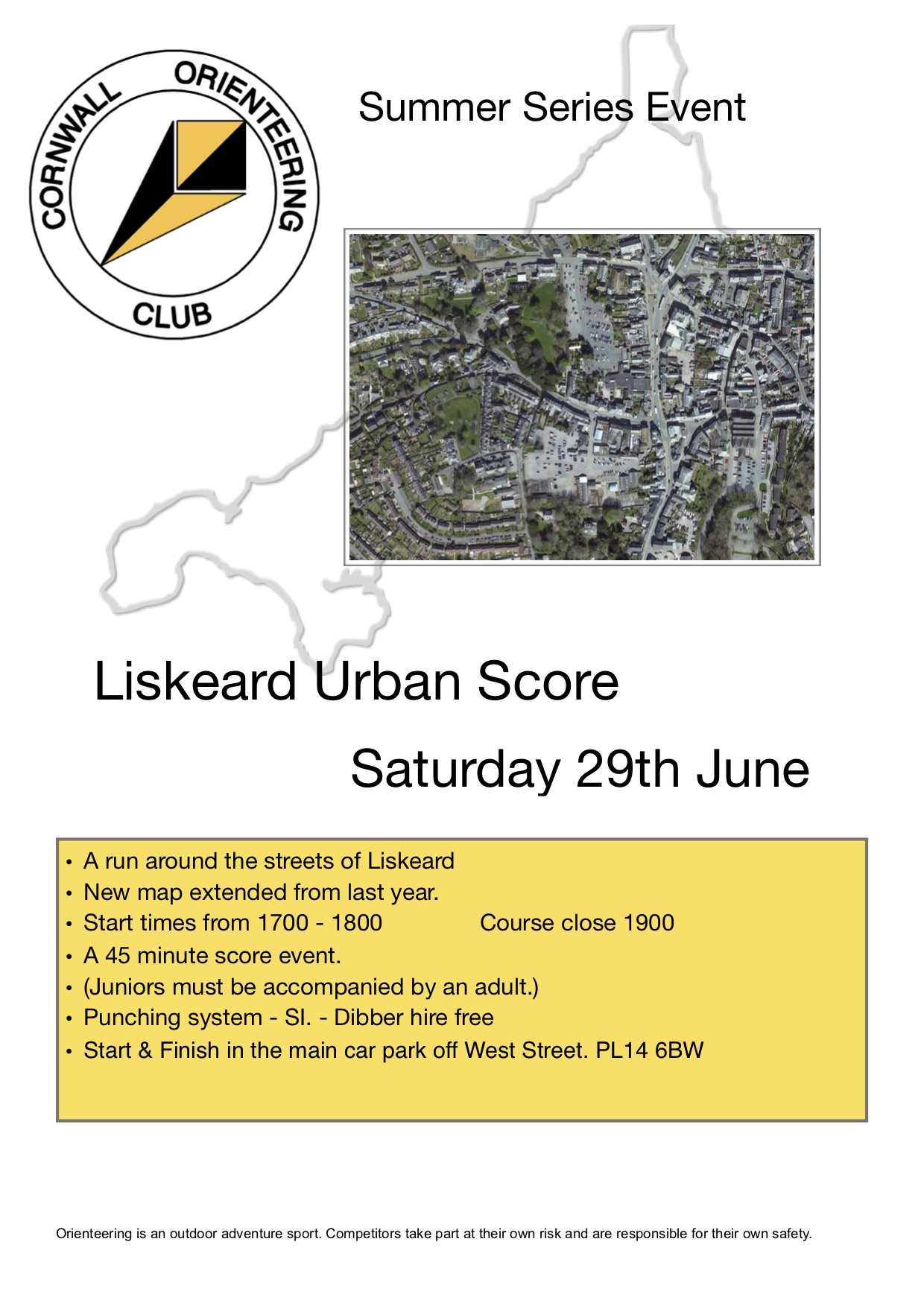 Flyer for Liskeard event