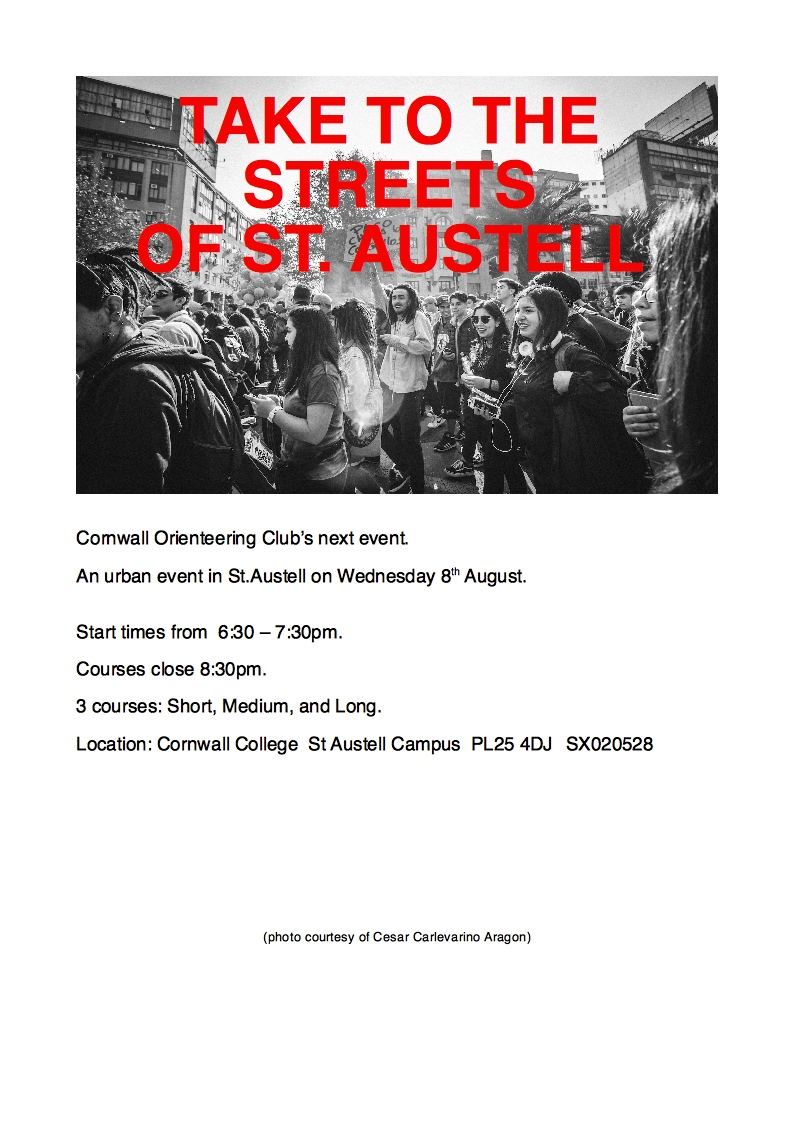 flyer for st austell event