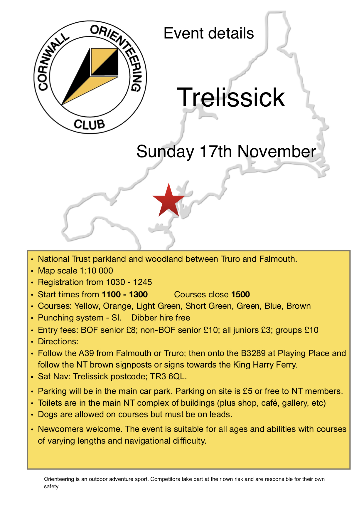 Flyer for Trelissick event