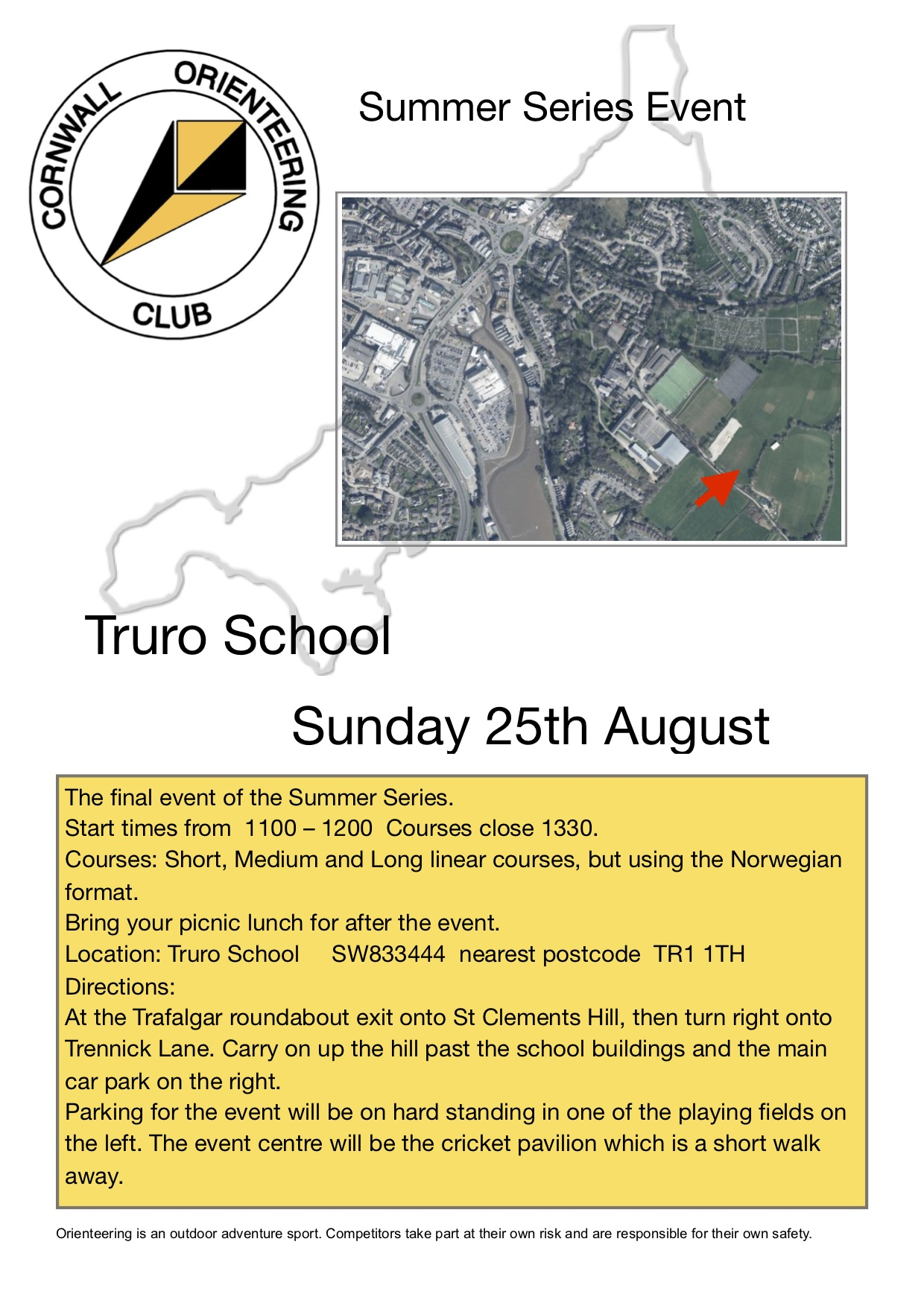 Flyer for Truro School event