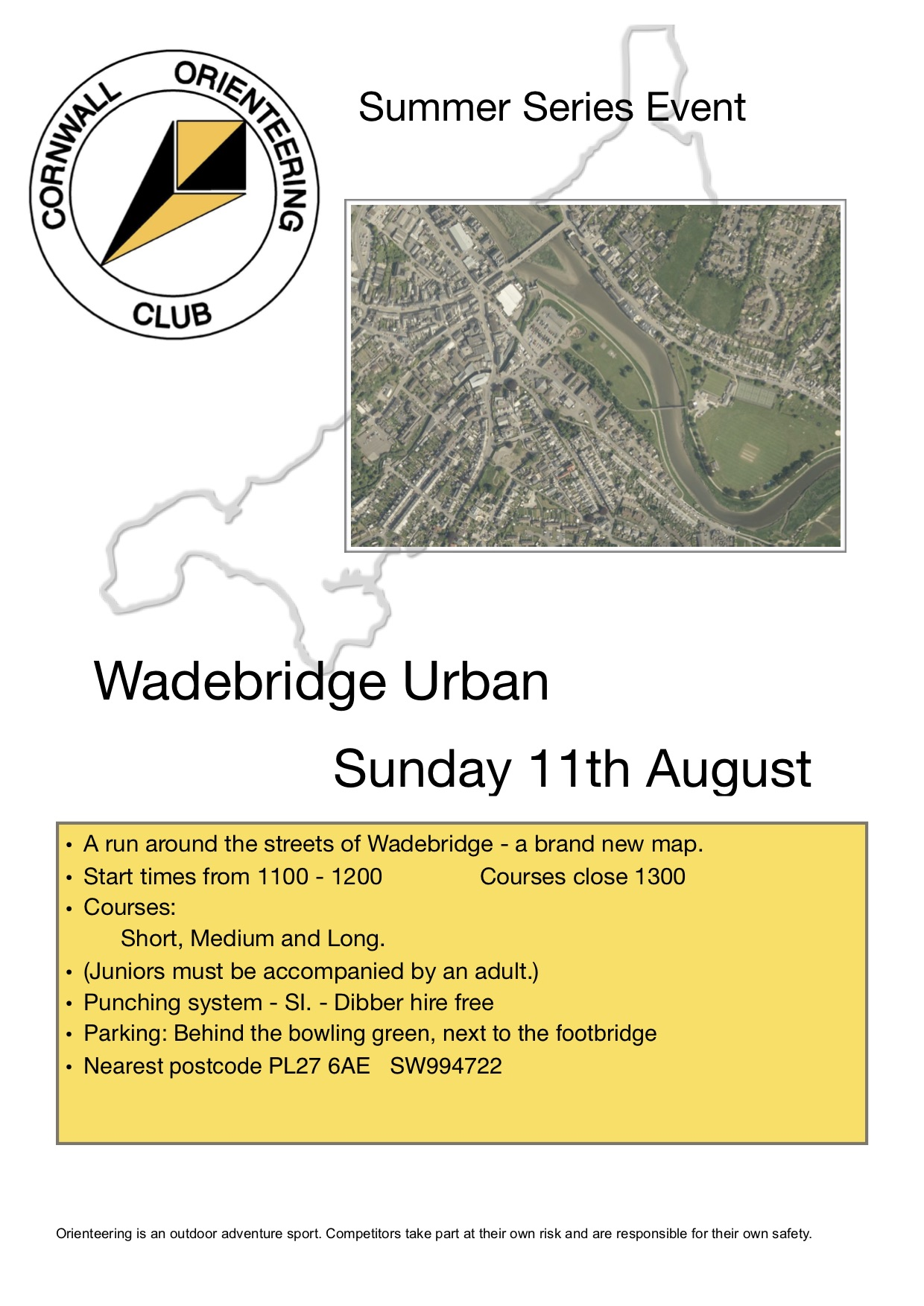 flyer for wadebridge event