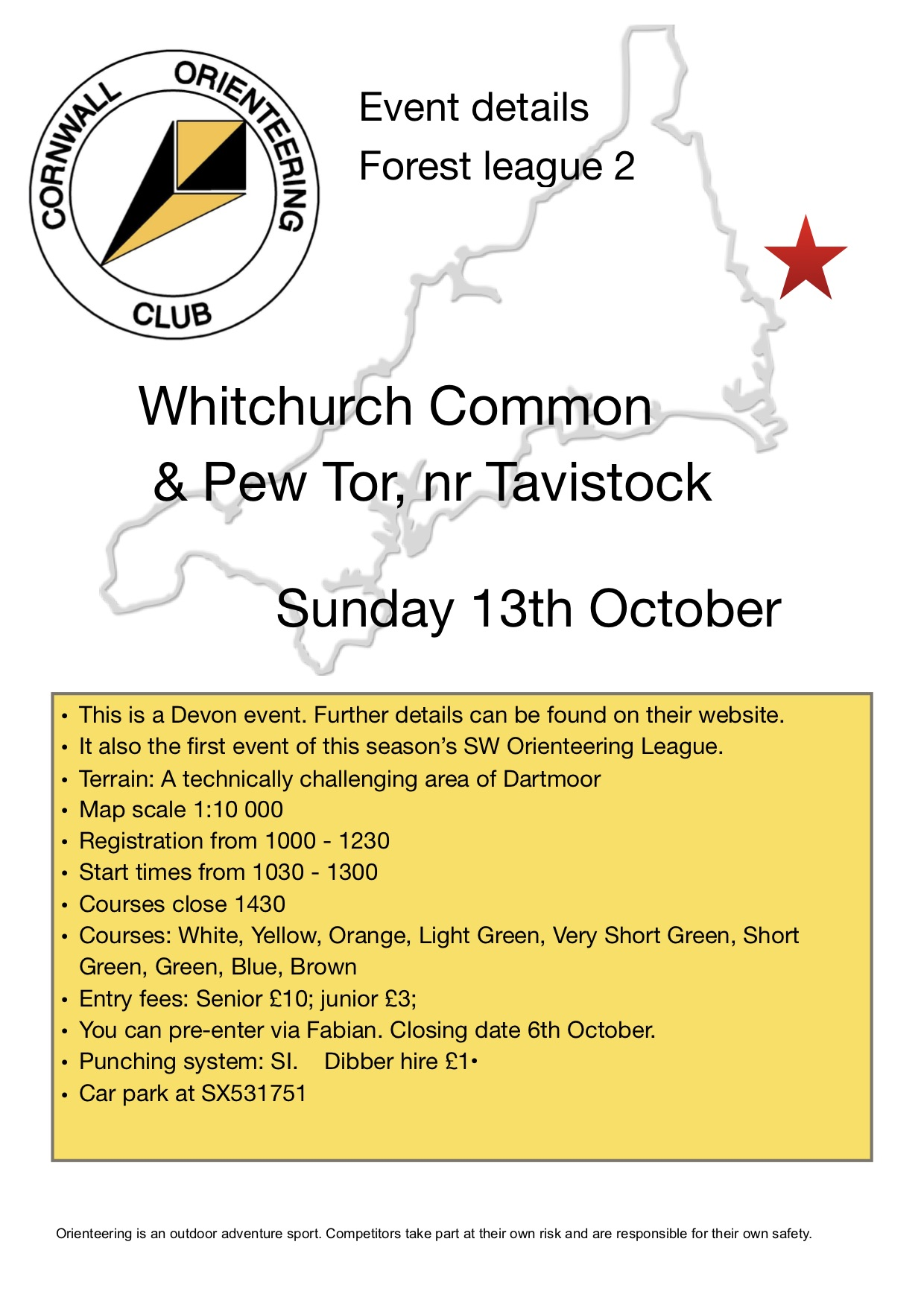 Flyer for Whitchurch event